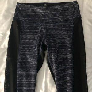 Full length leggings with mesh sides